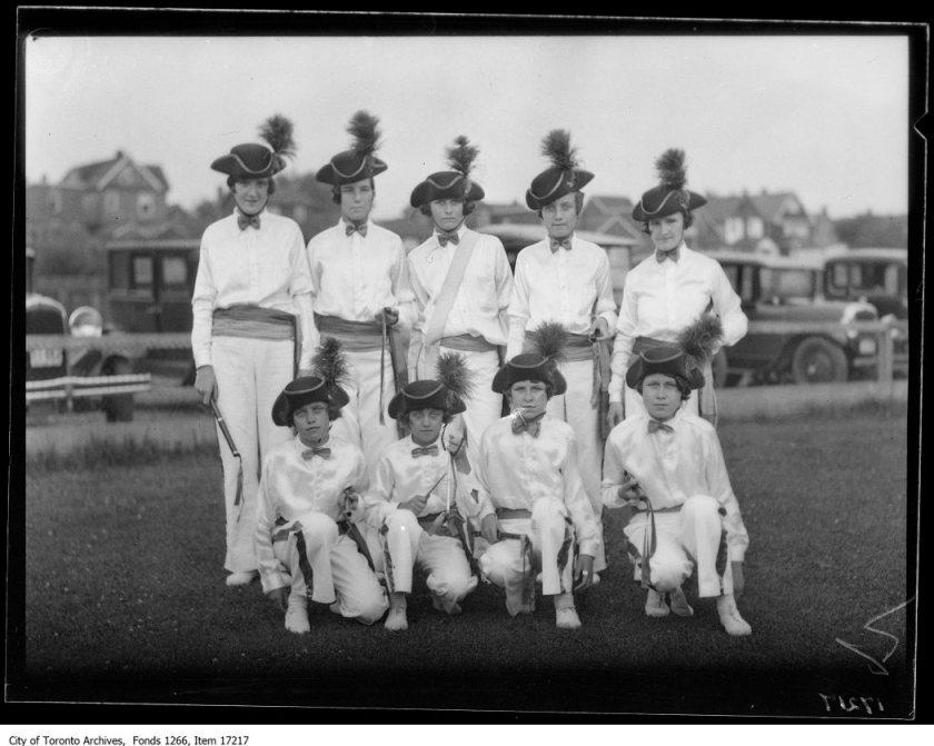 Orange bands, Eastern Lily Juvenile Band, girls. - July 8, 1929