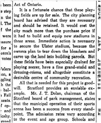 Save the Ulster Stadium Toronto Star, May 10, 1944 - Copy