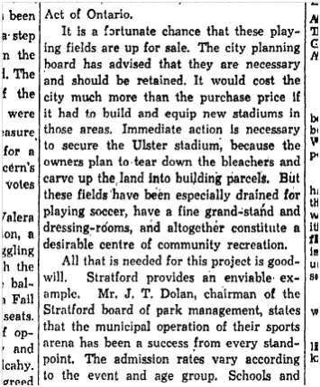 Save the Ulster Stadium Toronto Star, May 10, 1944 - Copy