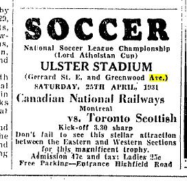 Toronto Star, April 24, 1931