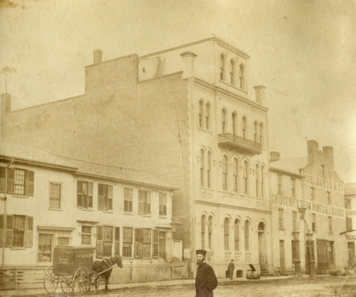 1867 TPL Bay St, w side, looking north to King St W