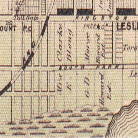 1878 Leslieville map