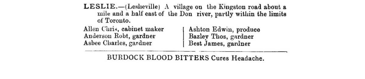 1882 County of York Directory and Gazeteer L1