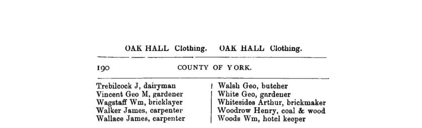 1882 County of York Directory and Gazeteer L3