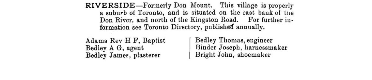 1882 County of York Directory and Gazeteer R1