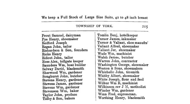 1882 County of York Directory and Gazeteer R3