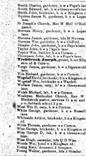 1883 City of Toronto Directory 2