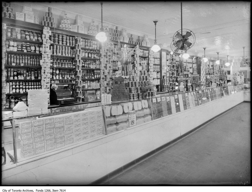 Arnold Bros, grocery section, 773 Yonge St.. - April 22, 1926