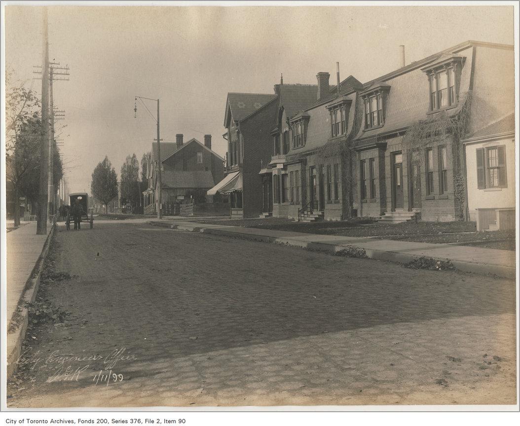 New cedar block pavement Harbord Street - Robert Street to Spadina Avenue