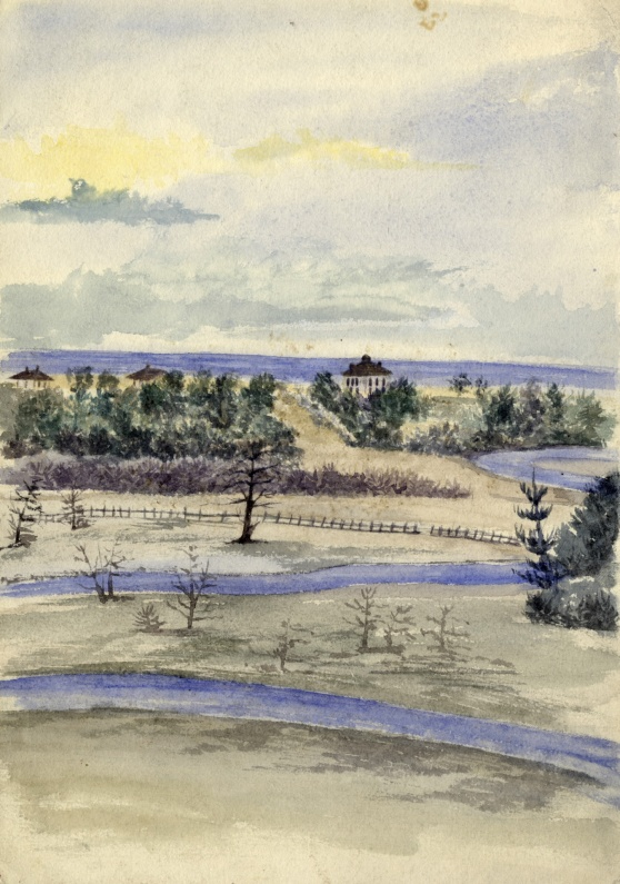 Don River, looking s.e. towards Don Jail, ca. 1870, artist unknown, TPL