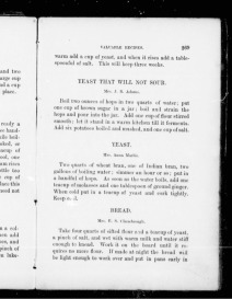p. 269, Hop yeast, The Home Cook Book, 1877