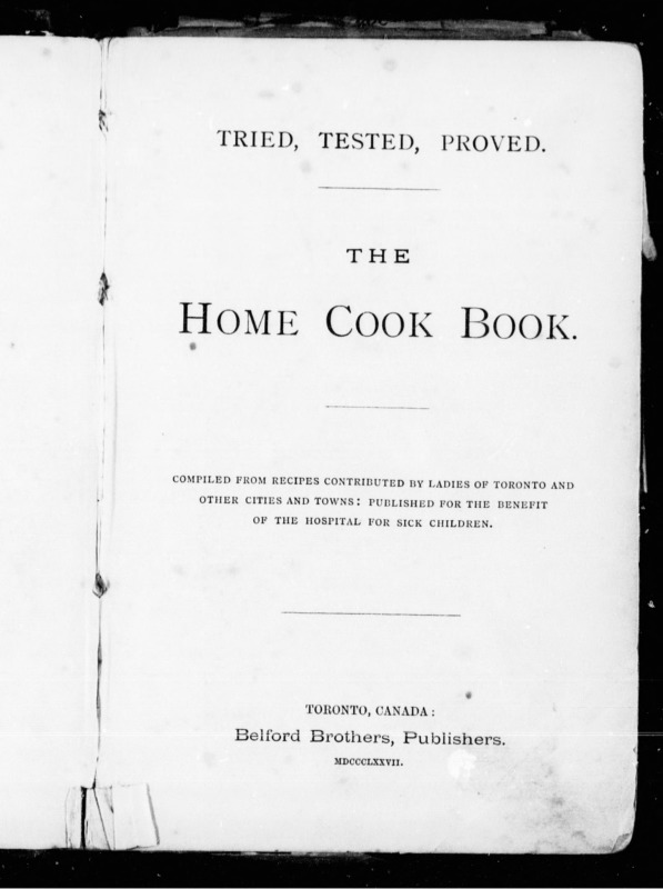 Home Cook Book title