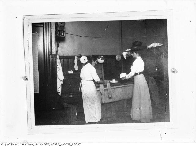 Kitchen Interior Occupied March 26, 1912