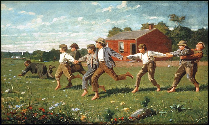 Snap the whip by Homer Winslow