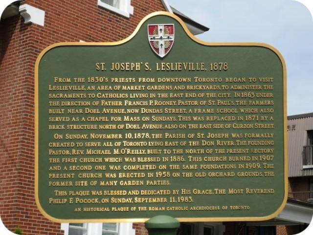 St. Joseph's plaque
