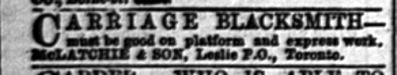 18790909GL Carriage Blacksmith Leslieville
