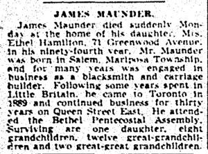 19410319 GM James Maunder obit