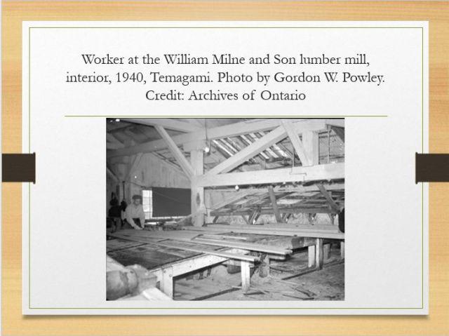 Milne lumber mill