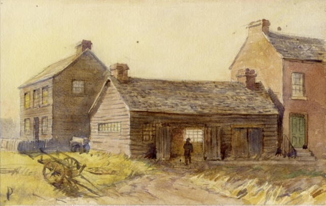 Richmond's Blacksmith Shop 1912 TPL