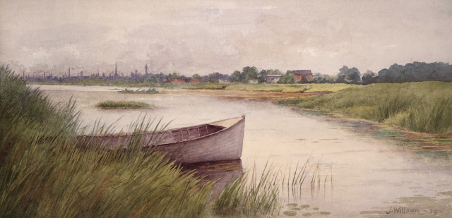 Looking n.w. to Toronto skyline in left background by John Willson 1899