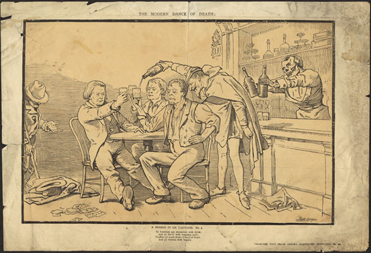 The Modern Dance of Death A Sermon in Six Cartoons. No. 2. ca. 1855-1891 NARCH 2