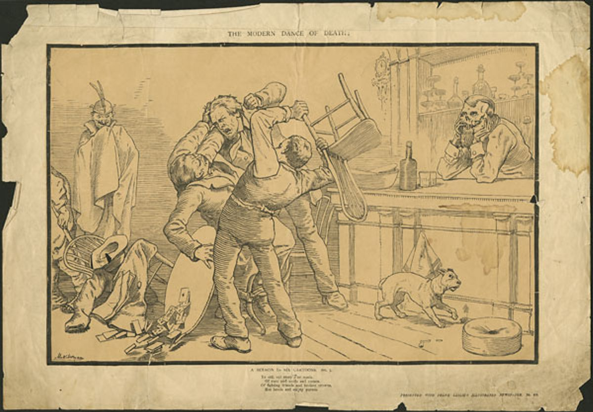 The Modern Dance of Death A Sermon in Six Cartoons. No. 2. ca. 1855-1891 NARCH 3