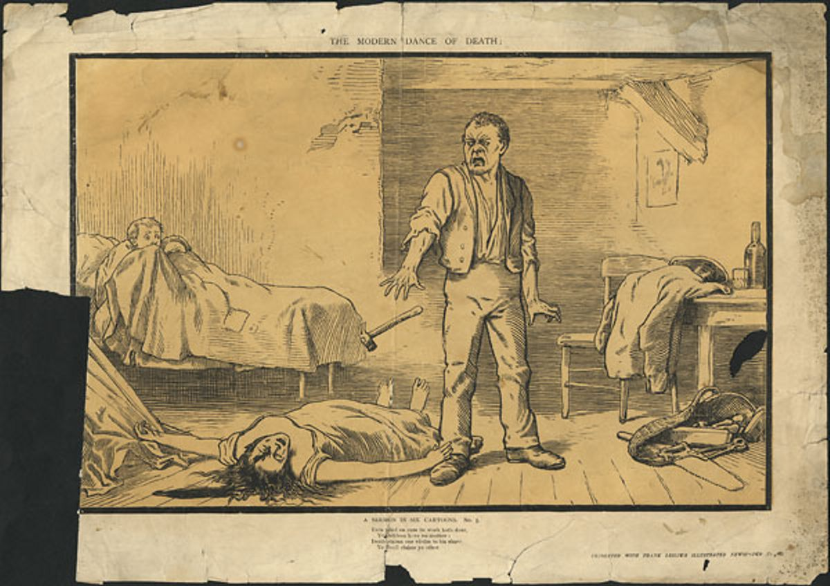 The Modern Dance of Death A Sermon in Six Cartoons. No. 2. ca. 1855-1891 NARCH 4