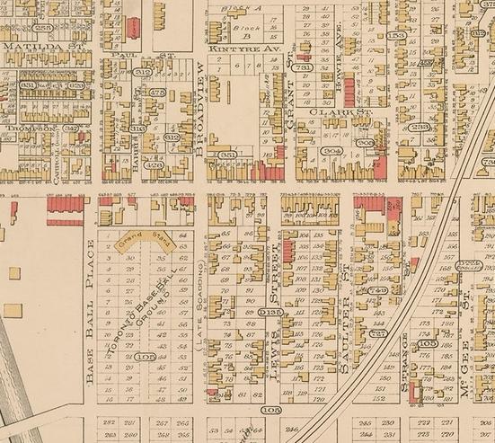 18900000 Baseball Grounds Goads Atlas 1890 Plate 47