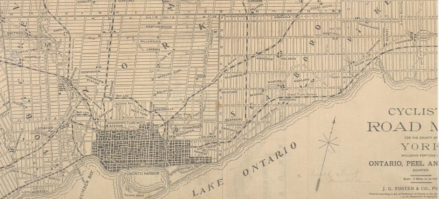 1898 Cyclists Map