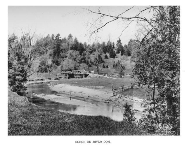 Artwork on Toronto, 1898, Scene on the Don River