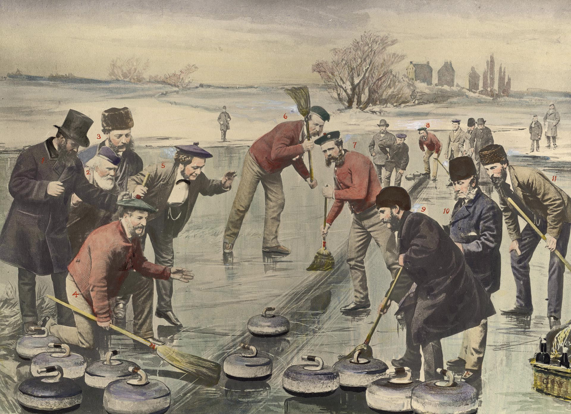 Red_Jacket_Rink_of_the_Toronto_Curling_Club_in_match_at_mouth_of_Don_River_in_Toronto_Bay,_1872