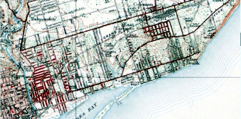 1909 topo map east end
