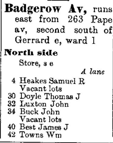 Toronto City Directory 1893