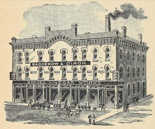 Badgerow and Dixon Vinegar 1893 79 Jarvis Street Toronto Illus