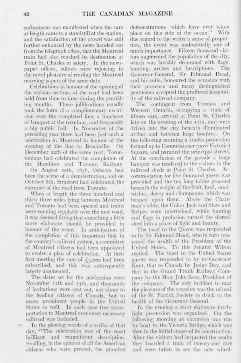 The Canadian Magazine Vol. 28, no. 1 (Nov. 1906) 42