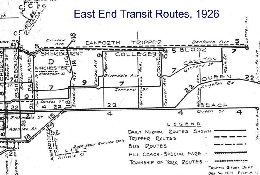East End Transit Routes 1926 TPL Macfarlanes Pub Dom