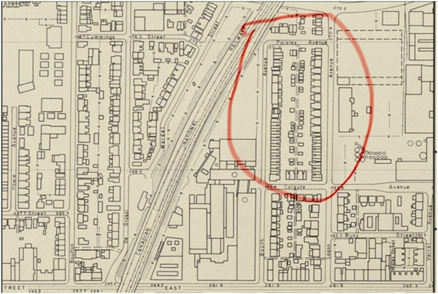 Planning Map 1959 Booth