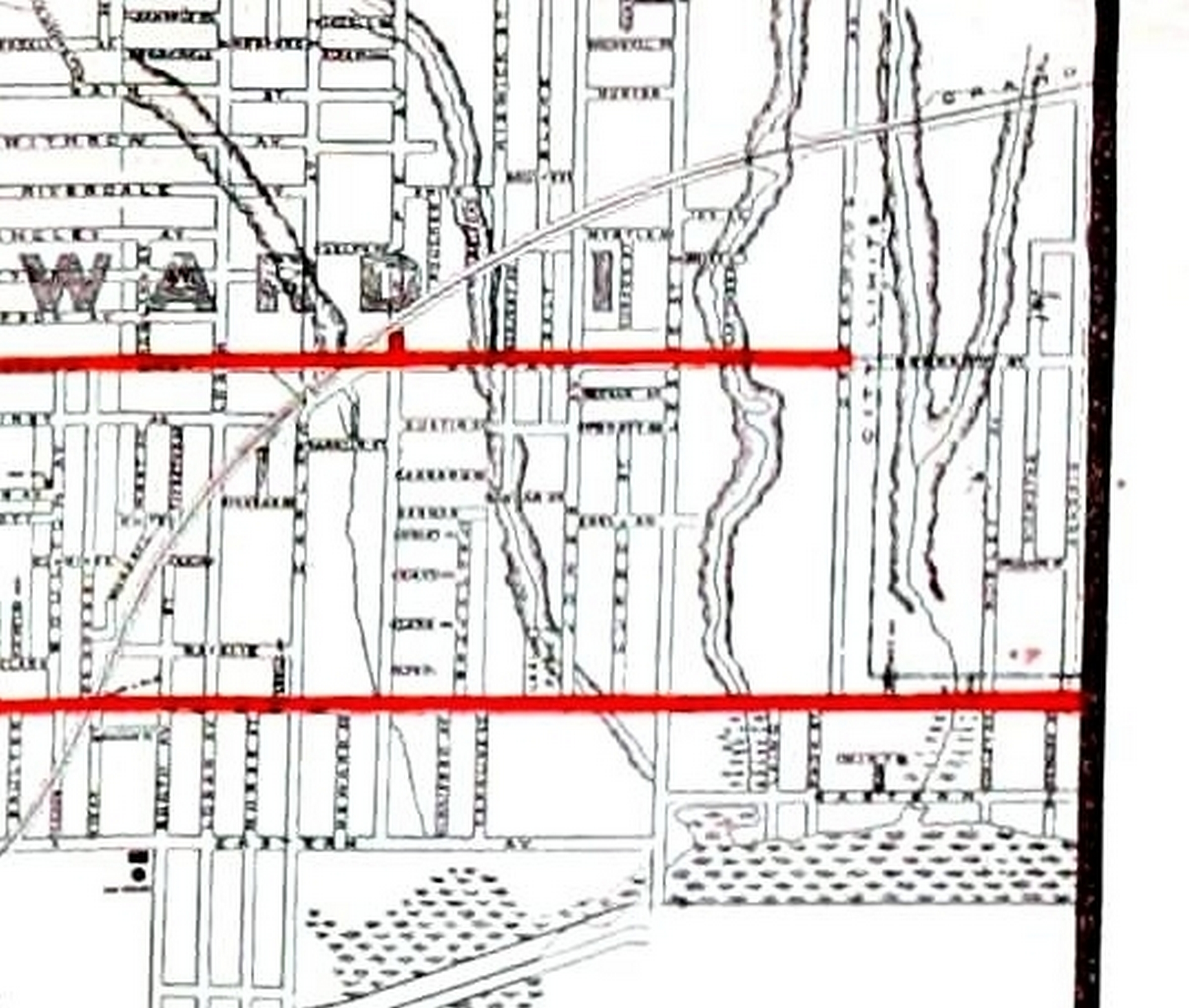 1912 Rex Chocolate map Leslieville