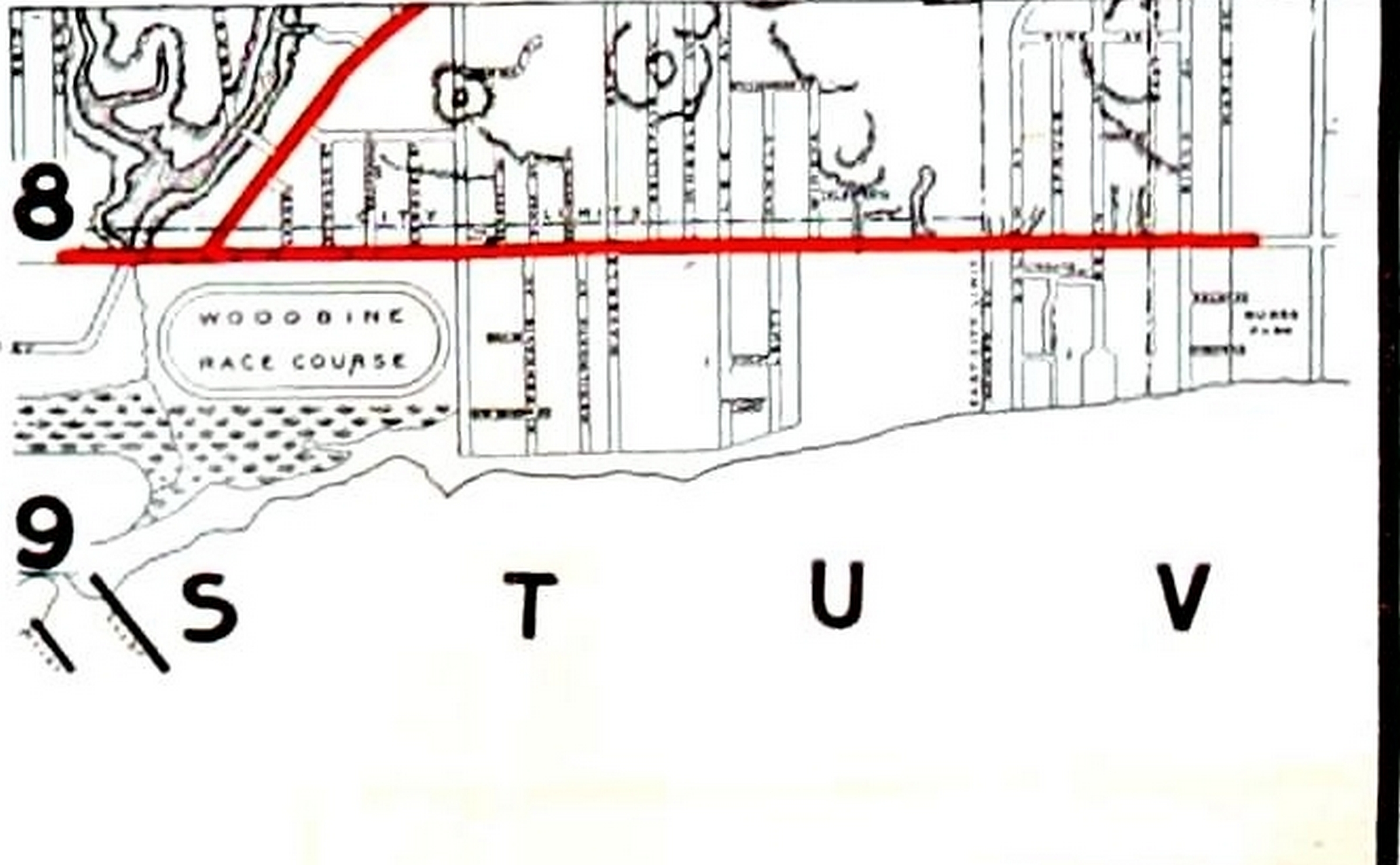 1912 Rex Chocolate Map the Beach