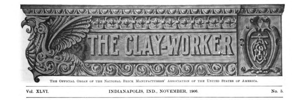 The Clayworker, November 1906