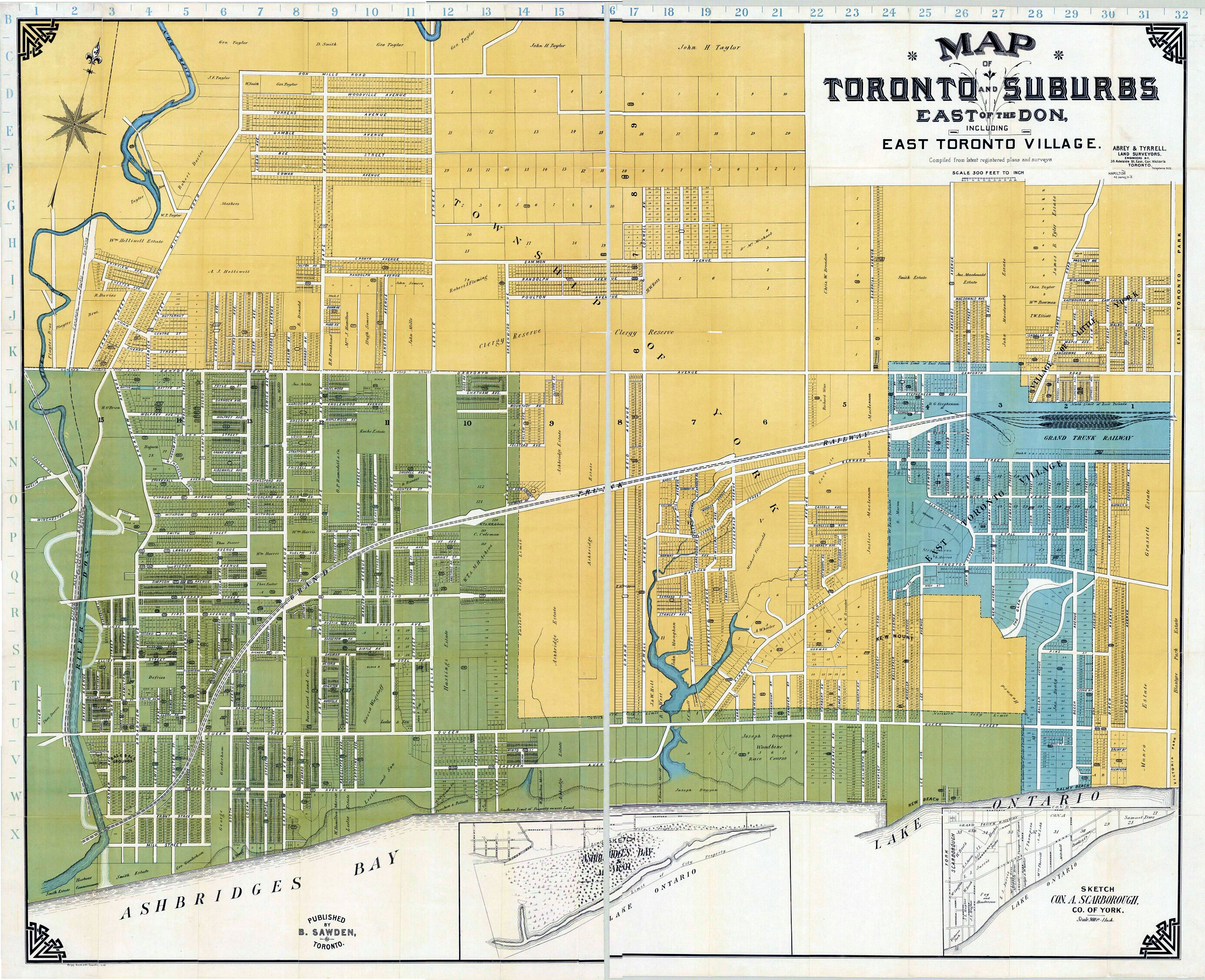 1908 Abrey and Tyrell Map