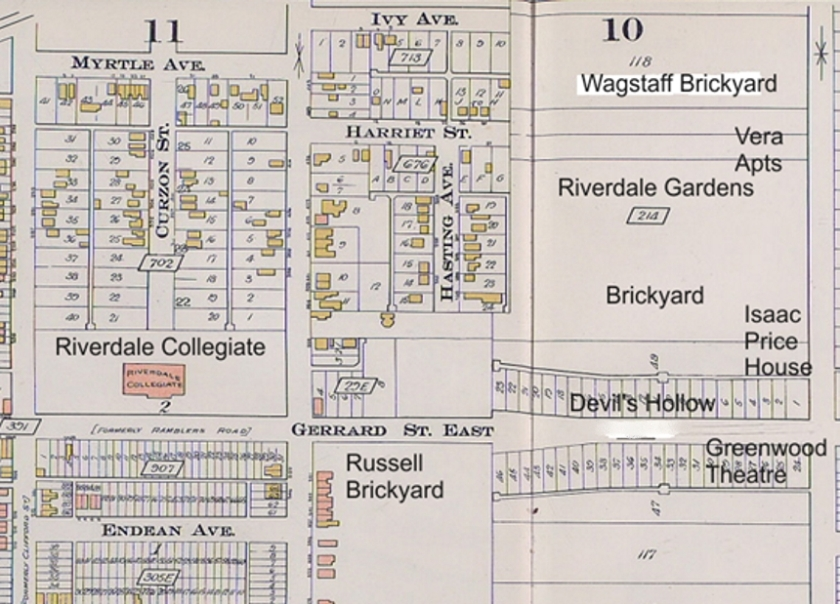 1910 Devils Hollow labelled