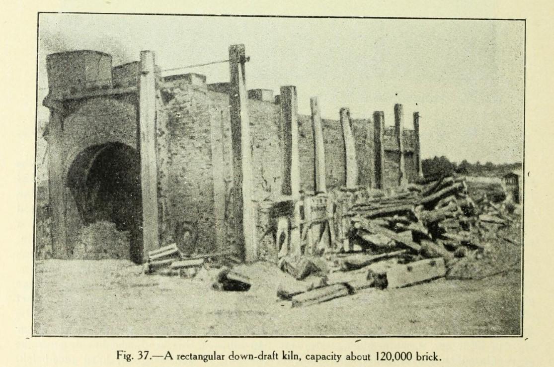 Clay and the clay industry of Ontario 1906 downdraft kiln