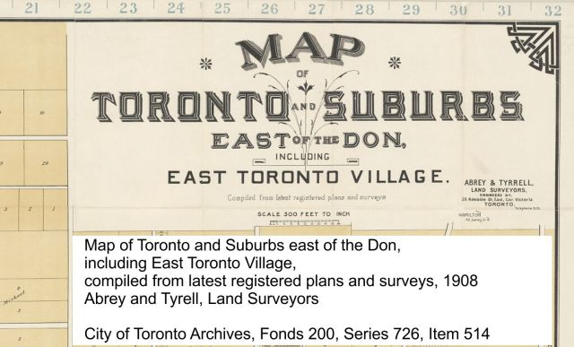 Map of Toronto, 1908 info