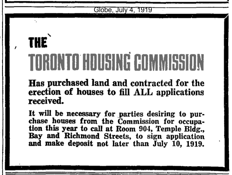 19190704 GL Toronto Housing Commission