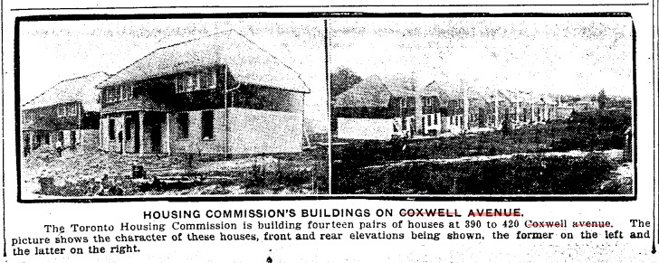 19190806 TS Toronto Housing Commission Coxwell photo