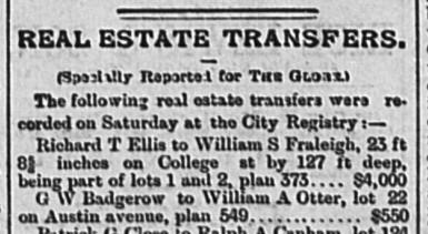 18870516 GL Real Estate Transfer