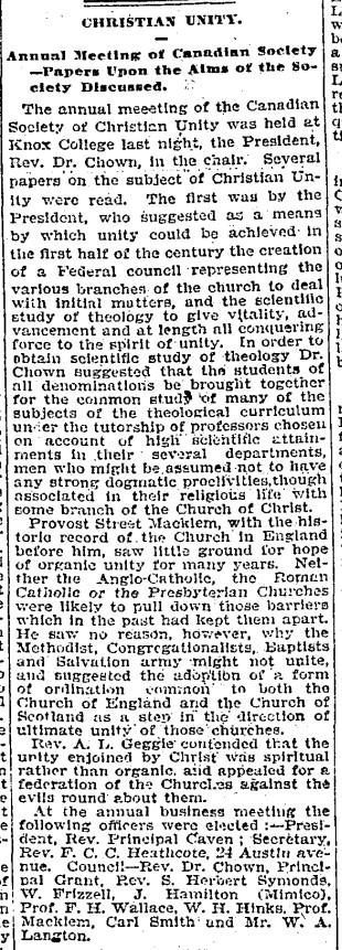 24 19010130 GL Heathcote Christian Unity