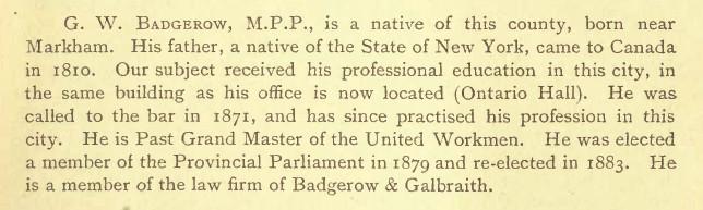 Badgerow Adam History of Toronto and the County of York, Vol. II, 1895