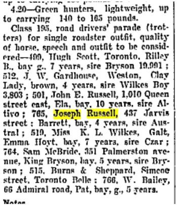 19060830 GL John E. Russell 1010 Queen St E